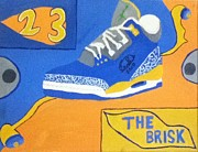 Michael Jordan Painting Originals - The Brisk by Mj  Museum