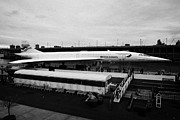 Exhibit Prints - the British Airways Concorde exhibit from the Intrepid flight deck  Print by Joe Fox