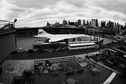 Manhatan Prints - the British Airways Concorde exhibit new york Print by Joe Fox