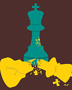 Chess Queen Posters - The Broken King Poster by Axel Kingsley