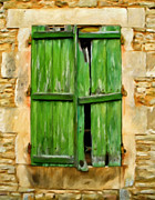 Old Windows Framed Prints - The Broken Shutters Framed Print by Michael Pickett