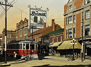College Street Posters - The Brunswick 1916 Poster by Kenneth M  Kirsch