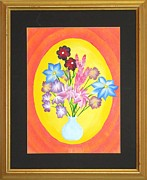 Original  By Artist Paintings - The Bud Vase by Ron Davidson