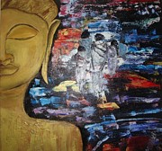 Etc. Painting Posters - The BUDDHA WAY Poster by Meenakshi Chatterjee