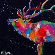 Wild Animals Paintings - The Bugle by Tracy Miller