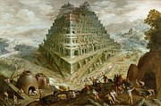 The Building Of The Tower Of Babel Print by Marten van Valckenborch