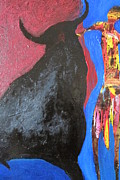 Abstract Bull Originals - The Bull Fighter by Omar Hafidi