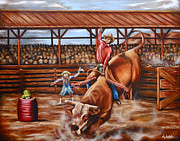 Lawyers Paintings - The Bullrider by Ruben Archuleta