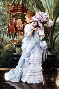 Jacques Digital Art - The Bunch of Lilacs by James Jacques Joseph Tissot