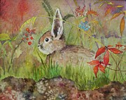 Storybook Framed Prints - The Bunny Framed Print by Mary Ellen  Mueller-Legault