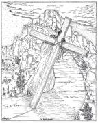 Christianity Drawings - The Burden Endured by Glenn McCarthy Art and Photography