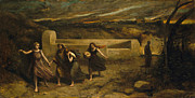 Famous Artists - The Burning of Sodom by Jean-Baptiste-Camille Corot