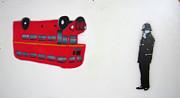 The Bus Print by Bela Manson