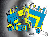 Bus Mixed Media - The Bus by Josef Putsche