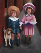 Nostalgic Pastels Metal Prints - The Buster Browns Metal Print by Leah Wiedemer