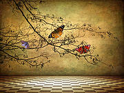 Fantasy Tree Art Prints - The Butterfly Room Print by Jessica Jenney