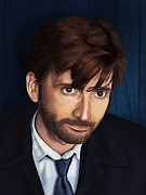 British Portraits Digital Art Posters - The Byronic Hero - David Tennant Poster by Ifourdezign