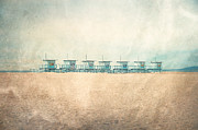 Beach Photograph Photos - The Cabins by Nastasia Cook