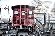 Caboose Photos - The Caboose by Bill Cannon