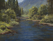 Poudre River Painting Prints - The Cache La Poudre River Print by Bonnie Bowne