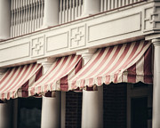 Kitchen Decor Framed Prints - The Cafe Awnings at Chautauqua Institution New York  Framed Print by Lisa Russo