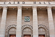 Uprights Posters - The Caird Hall Poster by Euan Donegan