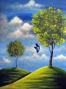 Surreal Landscape Painting Metal Prints - The Call Of Spring by Shawna Erback Metal Print by Shawna Erback