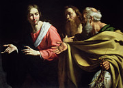 Fish Paintings - The Calling of St. Peter and St. Andrew by Bernardo Strozzi