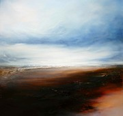 Abstracted Landscapes Prints - The Calling Shores Print by Simon Kenny