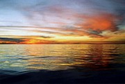 The Calm Before Hurricane Katrina In The Gulf Of Mexico Off The Coast Of Louisiana Print by Michael Hoard