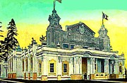 The Canada Bldg At The Alaska Yukon Pacific Expo In Seattle Wa In 1907 Print by Dwight Goss
