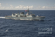 Halifax Photography Prints - The Canadian Frigate Hmcs Regina Print by Stocktrek Images