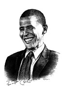 President Obama Drawings Framed Prints - The Candidate Framed Print by Todd Spaur