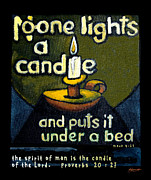 Quotation Posters - The Candle Poster by Patricia Howitt