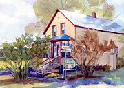 Florida House Paintings - The Candy Shoppe by Kris Parins