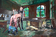 Gays Paintings - The cane - der Rohrstck - 2554 by Lars  Deike