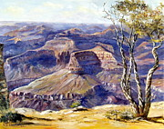 Cliff Lee Painting Metal Prints - The Canyon Metal Print by Lee Piper