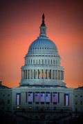 Vice President Biden Photos - The Capitol Dome Rise by Jost Houk