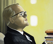 Black Tie Painting Framed Prints - The Capote Burger Framed Print by Marcella Lassen