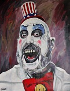 Clown Painting Originals - The Captain by Jeremy Moore