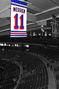 Ny Rangers Posters - The Captain Looks Over Poster by Karol  Livote