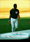Baseball Photographs Prints - The Captains Curtain Call   Don Mattingly Print by Iconic Images Art Gallery David Pucciarelli