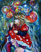 Anna Duyunova Art Prints - The Carnival Little Princess Print by Anna  Duyunova