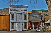 Cart Driving Posters - The Carriage Works 1864 Colorado Poster by Janice Rae Pariza