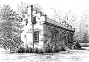 Civil War Site Drawings - The Carter House in Franklin Tennessee by Janet King