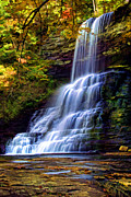 Autumn Scene Framed Prints - The Cascades Framed Print by Darren Fisher