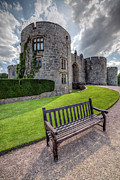 Stately Home Posters - The Castle Bench Poster by Adrian Evans