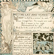 1887 Drawings Prints - The Cat and Venus Print by Pg Reproductions