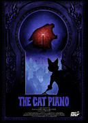 Piano Digital Art Prints - The Cat Piano Poster Print by Sanely Great