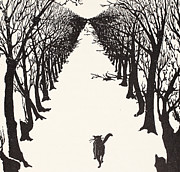 Landscape Drawings Posters - The Cat that Walked by Himself Poster by Rudyard Kipling